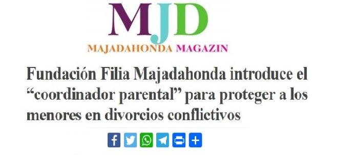 Titular de la noticia del Servicio de Coordinación Parental en Majadahonda Magazin