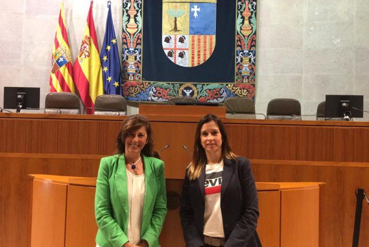 Intervención en las Cortes de Aragón