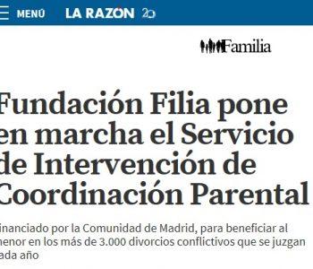 Servicio de Intervención de la Comunidad de Madrid de Fundación Filia en La Razón