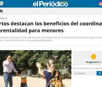 Noticia sobre los beneficios del Coordinador Parental en las Cortes de Aragón.