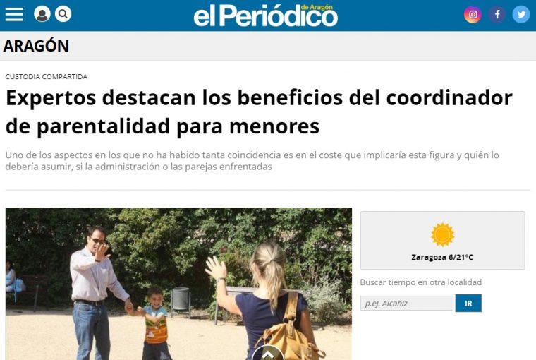 Expertos destacan los beneficios del coordinador parental en las Cortes de Aragón