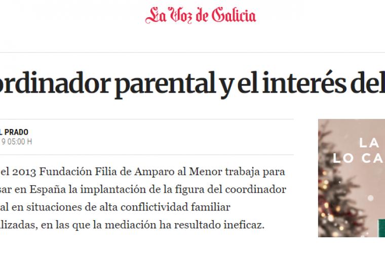 El coordinador parental y el interés del menor en La Voz de Galicia